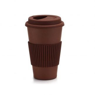 vaso bambu cafe marron