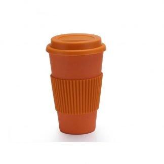 vaso bambu cafe naranja