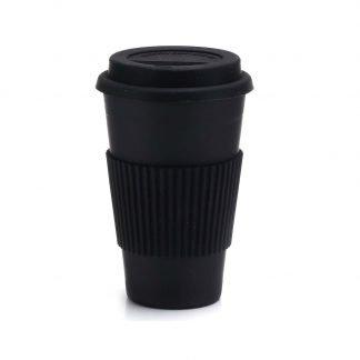 vaso bambu cafe negro