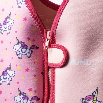 Chaleco Flotador Bebé Unicornios - Mundo Petit - Velcro de seguridad
