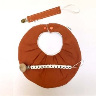 Pack regalo chupetero secababitas personalizado teja