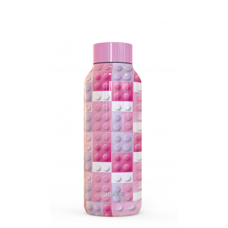 quokka-kids-botella-termo-solid-pink-bricks-510-ml