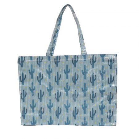 bolsa de playa impermeable especial anti arena cactus azul JanaBanana
