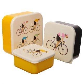 3 cajas de almuerzo ciclistas