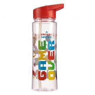 Botella Plástico con Pajita Game Over