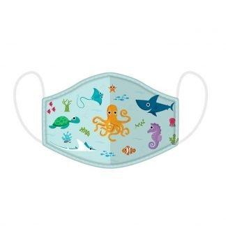 Mascarilla Infantil Higiénica Reutilizable Sealife
