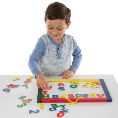 Pizarra Magnetica y tiza madera para niños de 3 años