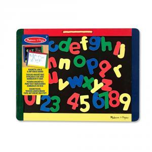 Pizarra Magnetica y tiza madera letras y numeros