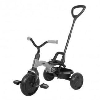 Triciclo Plegable con Barra de Empuje – Gris