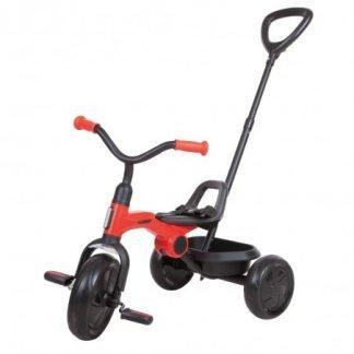 Triciclo Plegable con Barra de Empuje - Rojo