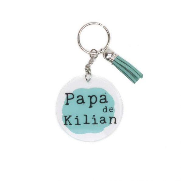llavero personalizado papa de JanaBanana
