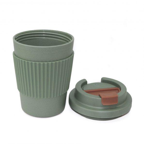vaso bambu con tapa verde apto microondas 350 ml JanaBanana 3