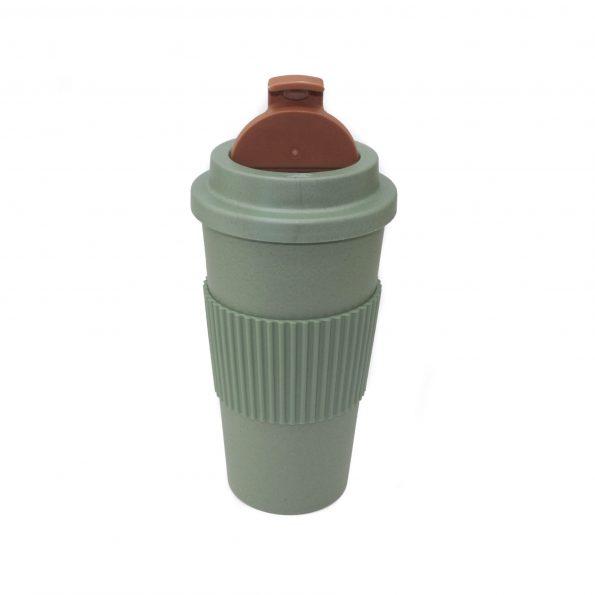 vaso bambu con tapa verde apto microondas 450 ml JanaBanana 2
