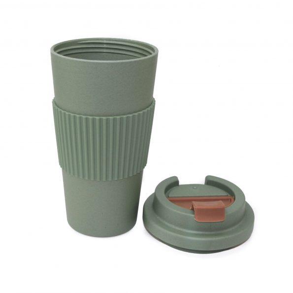 vaso bambu con tapa verde apto microondas 450 ml JanaBanana 3