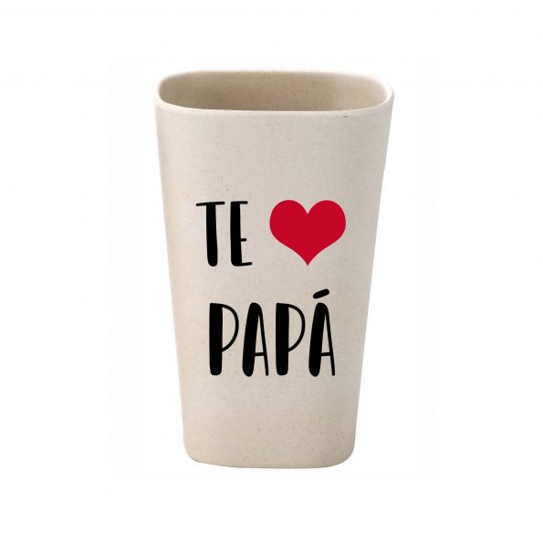 vaso personalizado bambu te quiero papa JanaBanana