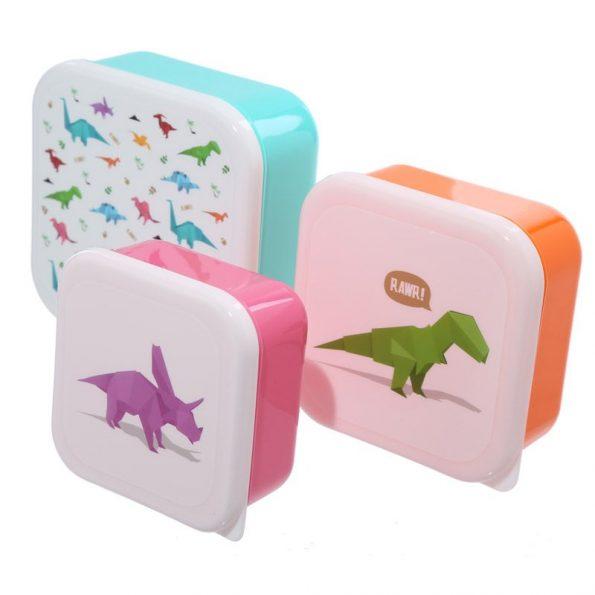 3 Cajas Almuerzo Dinosaurios