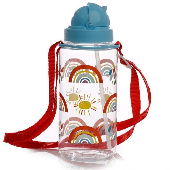 Botella Plástico con Pajita Rainbow 3