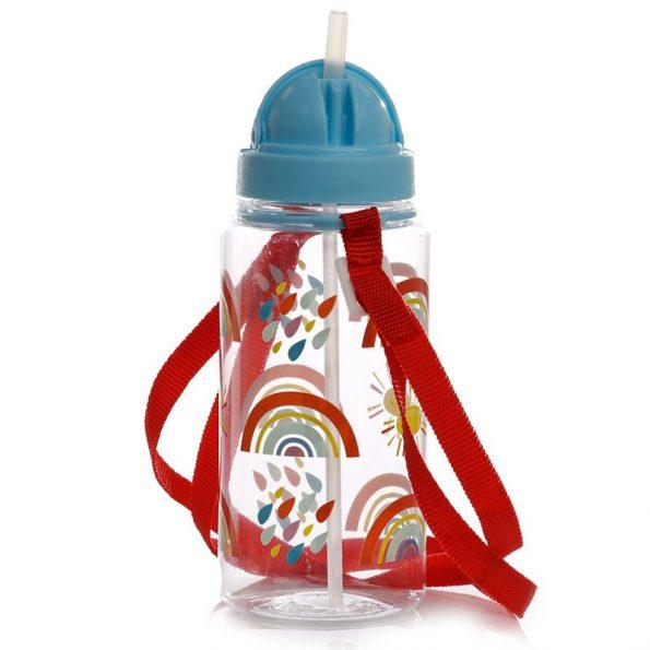 Botella Plástico con Pajita Rainbow 4