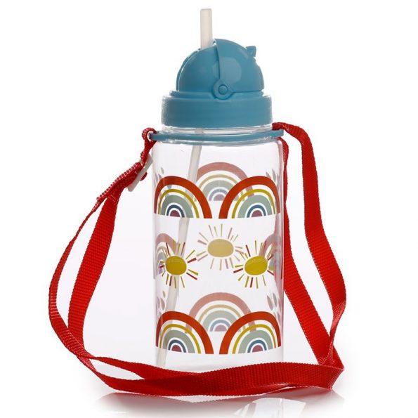 Botella Plástico con Pajita Rainbow 5
