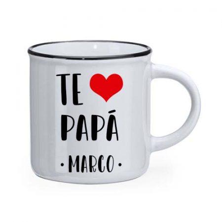Taza personalizada retro te quiero papa janabanana