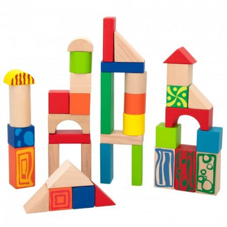 Cubo 50 piezas construcción