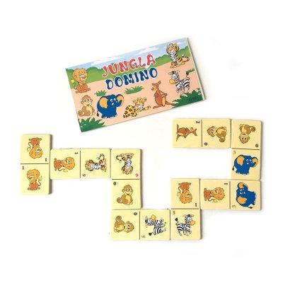 Domino de madera Animales jungla Janabanana