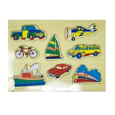 Puzzle encajables de madera Transportes 2 Janabanana