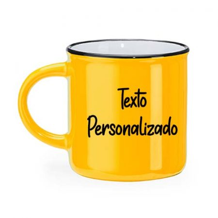 Taza personalizada retro camper amarilla janabanana 2