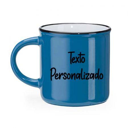Taza personalizada retro camper azul janabanana 2