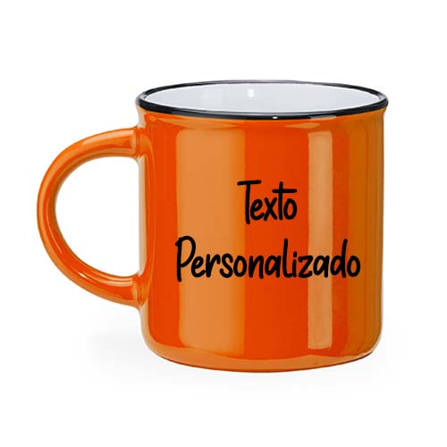 Taza personalizada retro camper naranja janabanana 2