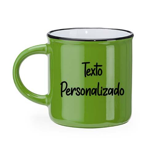 Taza personalizada retro camper verde janabanana 2