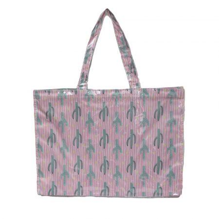 bolsa de playa impermeable especial anti arena cactus rosa JanaBanana