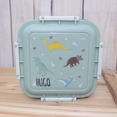 caja almuerzo grande dinosaurios personalizada JanaBanana