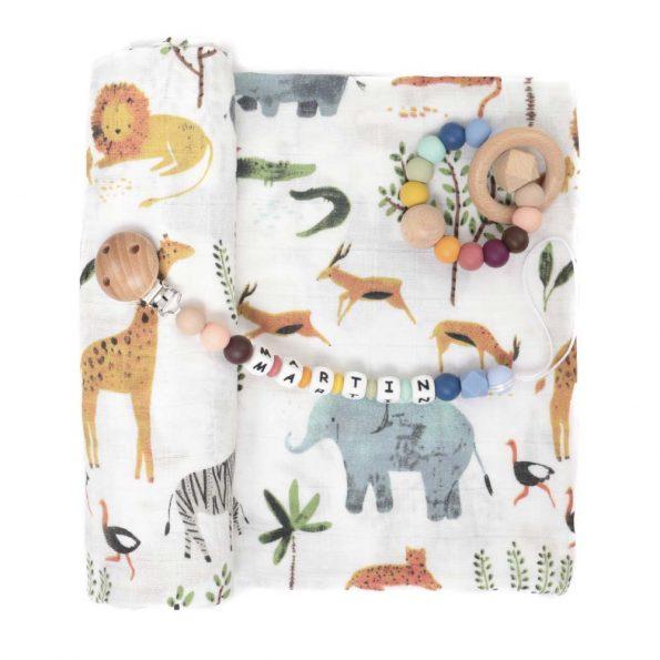 pack regalo bebe safari