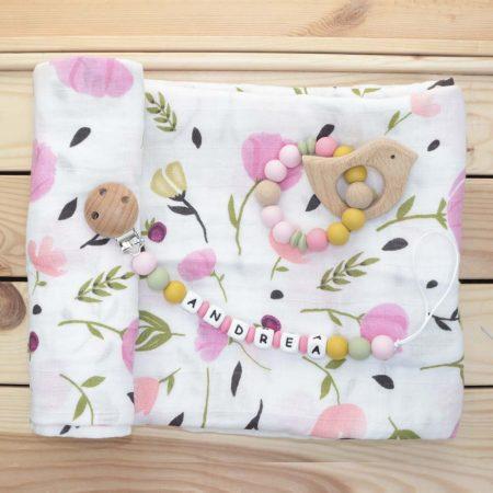 pack regalo bebe tulipanes rosas JanaBanana 2
