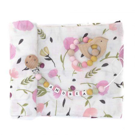 pack regalo bebe tulipanes rosas JanaBanana