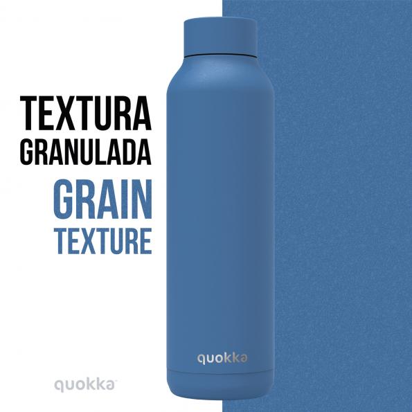 quokka botella termo acero inoxidable solid bright blue powder 630 ml