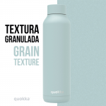 botella acero termica cool gray powder 630 ml