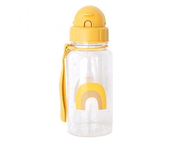 Botella Plástico Arcoiris Mostaza Personalizable
