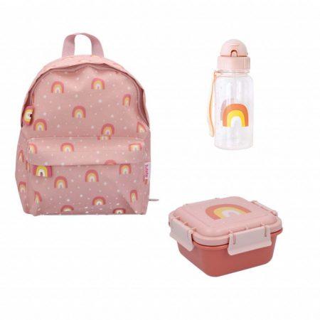 Pack vuelta al cole arcoiris rosa Personalizable JanaBanana