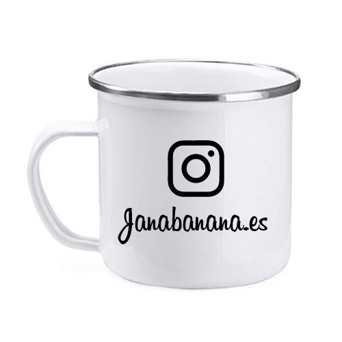 Taza personalizada metalica instagram janabanana