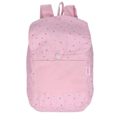 Mochila Tela Dots Pink Personalizable JanaBanana
