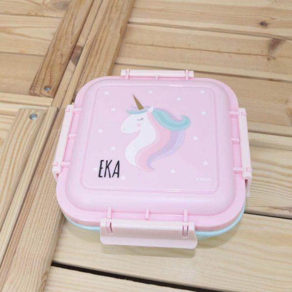 caja almuerzo grande unicornio personalizada JanaBanana