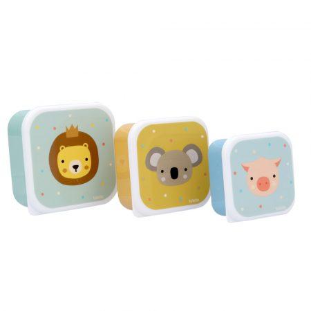 3 cajas almuerzo animal friends tutete janabanana
