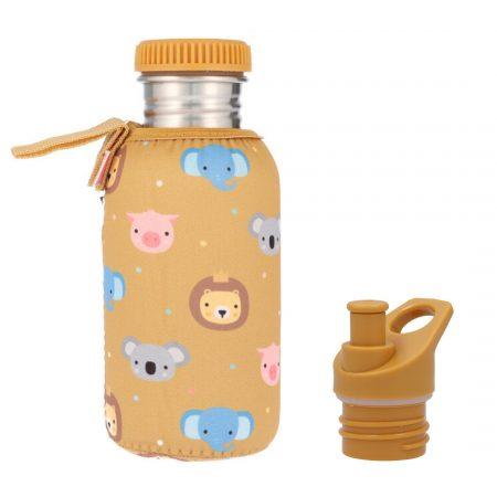 botella acero con funda animal friends personalizable 500ml janabanana