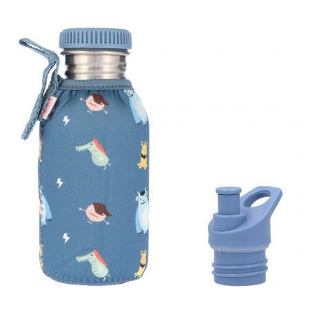 botella acero con funda little monsters personalizable 500ml janabanana