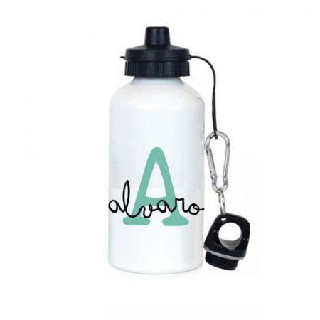 botella acero personalizada Inicial Mint JanaBanana