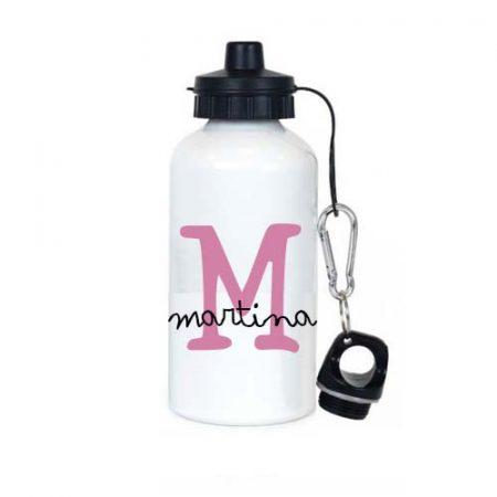 botella acero personalizada Inicial Rosa JanaBanana