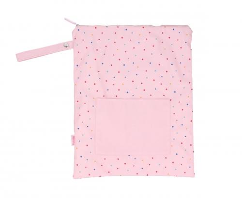 Bolsa Impermeable Grande Dots Pink Personalizable Tutete JanaBanana