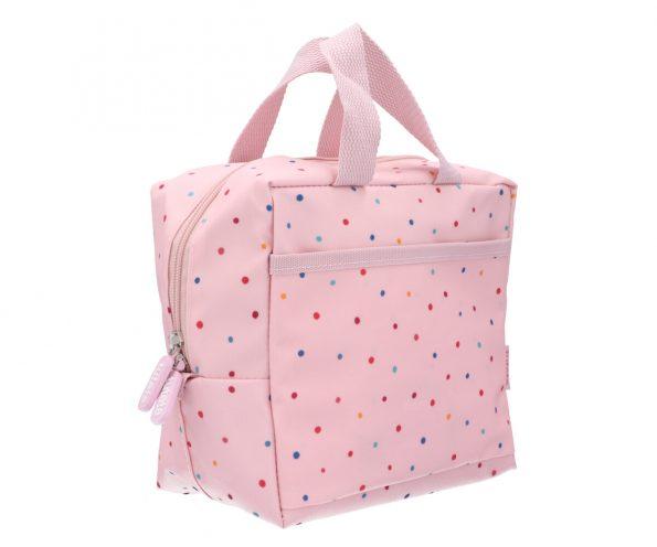 Bolsa Merienda Térmica Dots Pink Personalizable JanaBanana 2